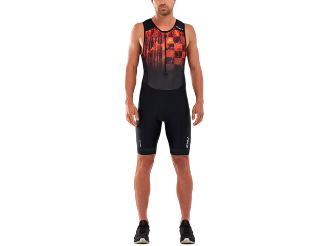 2XU Perform Etuvetoketjullinen Triathlonpuku Miehet, midnight/fresh ombre